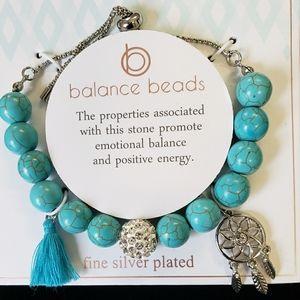 Balance beads bracelet turquoise
